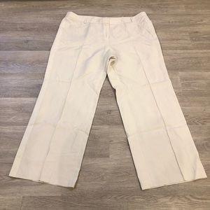 Akris Punto Linen Wide Leg Pants Size 16